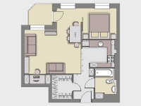Apartment arrangement design